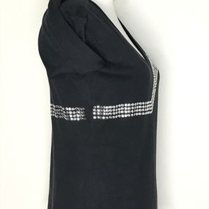 Versace Tops - Versace Jeans Couture Black Stud VNeck Top A080537